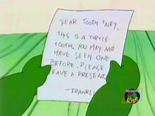 Tooth fairy note