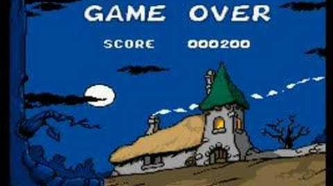 The Smurfs (SNES) Game Over