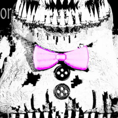 Nightmare Fredbear's teaser, brightened.