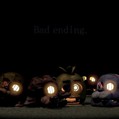 Possible Golden Freddy's head from the Bad Ending screen.