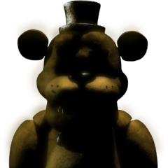Texture of Golden Freddy in the cut scene after the player beats Night 3 in <i>Five Nights at Freddy's 2</i>.