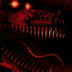 The fourth teaser, an image depicting Nightmare Foxy and the phrase