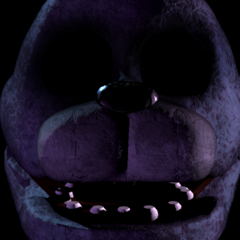 Another distorted Bonnie. Note the lack of eyes, rather than glossy black ones.