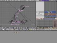 Blender demo screen animating