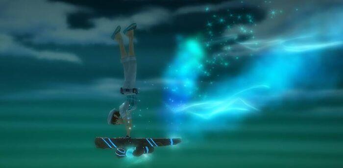 Blue skatboard