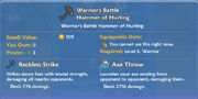 Warrior's Battle Hammer of Hurling item