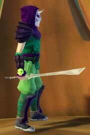 Ninja's Blade of Flame Wave held