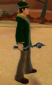Wizard's Jewel Wand of Firestorm held