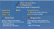 Ninja's Shadow Blade of Dragonstrike item