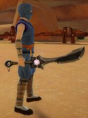 Ninja's Shadow Blade of Dragonstrike held