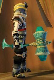Warrior's Battle Hammer of Cleaving held