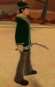Wizard's Bone Wand of Firestorm held