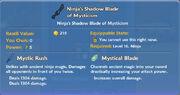 Ninja's Shadow Blade of Mysticism item