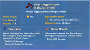 Ninja's Jagged Scythe of Dragon Breath item
