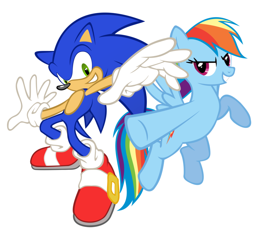 Image - Sonic And Rainbow Dash.png