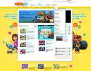 FBBOS NickJr.com Original Home