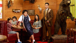 The Huang Family in Cattleman's Ranch Steakhouse