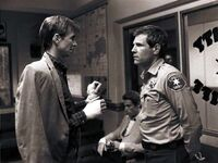 Psycho II Anthony Perkins and Tom Holland