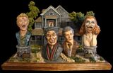 Fright Night Geometric Busts Collection with Mad Monster Maker House