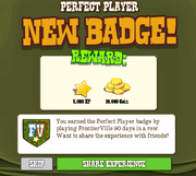 Perfect Player Badge Complete