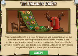 Jackalope Society Mission Popup
