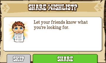 Share Wishlist with Friends