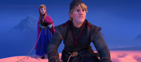 Kristoff and Anna cliff diving