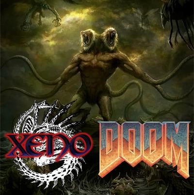 Xeno-doom split cover
