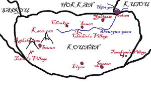 Mapofvillages,rivers,andmountains