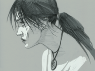 Portrait of lara croft by characterundefined-d5tnann
