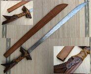 Kampilan moro sword with sheath