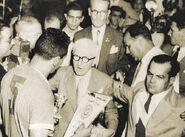 Entrega del trofeo 1950