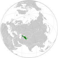 Uzbek globe map
