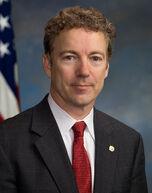 Rand Paul official portrait with flag edit