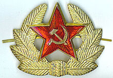 Red army conscript hat insignia