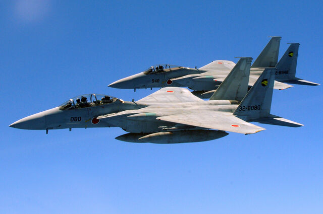 File:Two Japan Air Self Defense Force F-15 jets.jpg