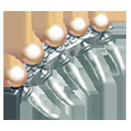 Peach Pearl Hair Comb