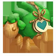 Heirloom Green Sheep Toy