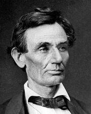 478px-Abraham Lincoln by Alexander Helser, 1860-crop