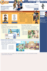Gaiaonline homepage 2006-apr