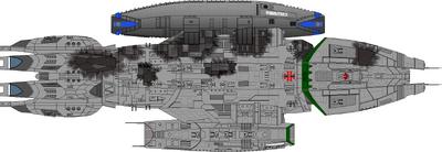 Battlestar Vindication - Dorsal Battle Damage-2