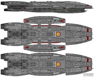 Battlestar Prometheus - Columbia Class