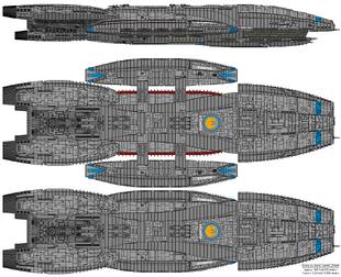 Battlestar Atlantia - Columbia Class