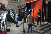 Galavant A New Season BTS Mallory Jansen and John Fortenberry