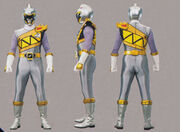 Silver Dino Charge Ranger Form