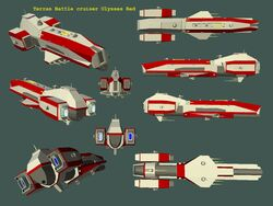 GoF Terran Battle cruiser Ulysses Red 01