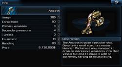 Ship amboss info page