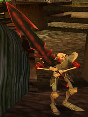 (MediEvil) Sir Daniel Fortesque with the Woden's Brand