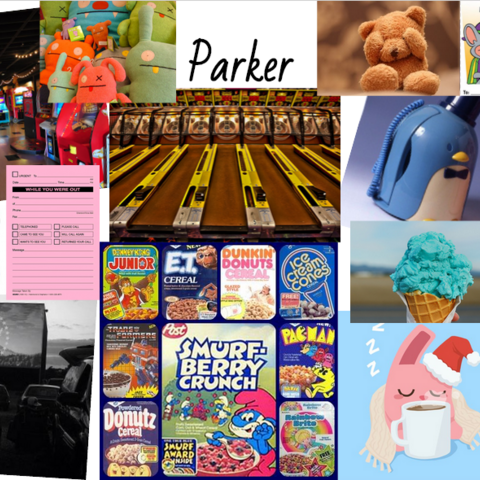 Parker's aesthetic collage.