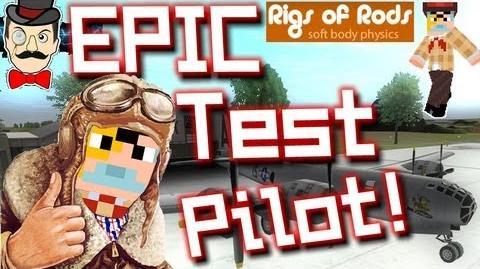 BERTIE = EPIC TEST PILOT! Rigs of Rods 2 - Airplane Tour !